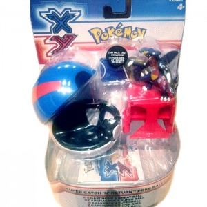 super catch n return Pokeball Pokemon Tomy boite Démo Jouets