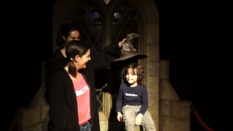 Photo du Choixpeau Exposition Harry Potter